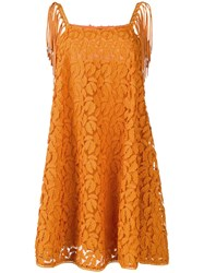 Just Cavalli Embroidered Flared Dress 185 Orange