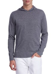 Saks Fifth Avenue Collection Cashmere Hooded Sweater Grey