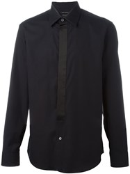 Marc Jacobs Satin Placket Shirt Black