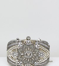 True Decadence All Over Embellished Box Clutch Bag Multi