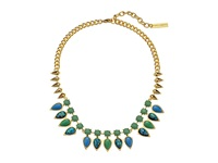 Vince Camuto Mini Opal Stone Collar Necklace Gold Electric Blue Blue Opal Green Necklace Multi