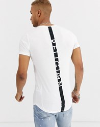 Religion T Shirt With Back Detail In White