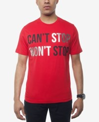 Sean John Men's Can't Stop Won't Stop Graphic Print T Shirt Created For Macy's Tango Red
