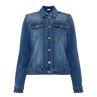 Collection Weekend By John Lewis Stretch Denim Jacket Mid Blue