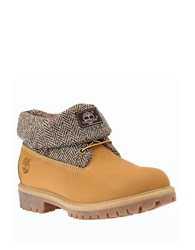 Timberland Roll Top Leather Boots Wheat