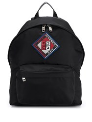 Givenchy Logo Patch Backpack Black