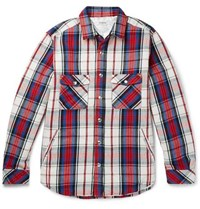Nonnative Thinsulate Checked Cotton Overshirt Red
