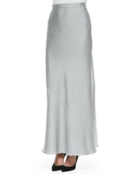 Halston Heritage Woven Georgette Long Maxi Skirt