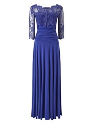Phase Eight Romily Lace Full Length Dress Blue