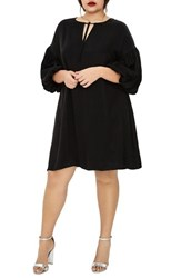 Elvi Plus Size Women's The Vedere Silk Swing Dress Black