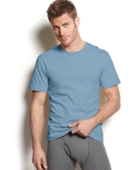 Alfani Men's Crew Neck T Shirt Ocean Heather