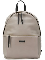 Furla Top Zipped Backpack Nude And Neutrals