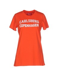 Carlsberg Topwear T Shirts Women Red
