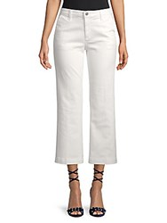 Ag Adriano Goldschmied Layla High Waist Flared Cropped Trousers White