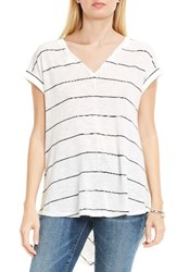 Vince Camuto Women's Two By Chevron Back Stripe Knit Top New Ivory