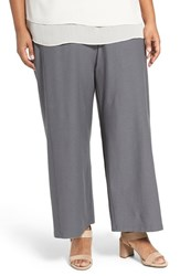 Eileen Fisher Plus Size Women's Washable Stretch Crepe Crop Pants