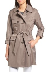 Vince Camuto Women's Double Gunflap Trench Coat Clay