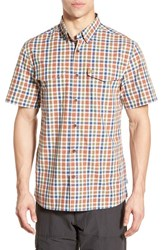 Fjall Raven Men's Fj Llr Ven 'Ovik' Regular Fit Short Sleeve Sport Shirt Rust