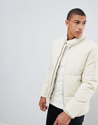 Selected Homme Puffer Jacket Oyster Gray Cream