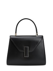 Valextra Mini Iside Suede And Leather Bag Nero