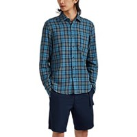 Alex Mill Plaid Double Faced Cotton Shirt Blue