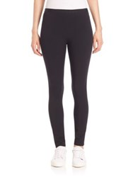 Helmut Lang Solid Ankle Length Leggings Black