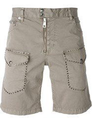 Just Cavalli Studded Pocket Shorts Grey