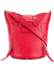 Tod's Double T Bucket Bag Red