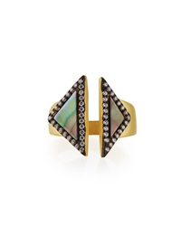 Freida Rothman 14K Vermeil Cz Triangular Open Ring