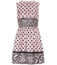 Red Valentino Floral Printed Satin Dress Pink