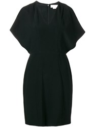 Genny Shoulderless Short Dress Black