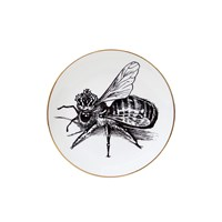 Rory Dobner Perfect Plates Queen Bee Black And White