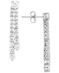Wrapped In Love Diamond Linear Drop Earrings 2 Ct. T.W. 14K White Gold