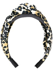 Jennifer Behr Fiona Knotted Headband Black