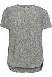 Iris And Ink Gabrielle Flecked Jersey T Shirt Gray