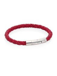 Saks Fifth Avenue Leather Rope Bracelet Red