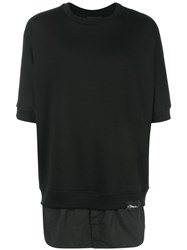 3.1 Phillip Lim Shortsleeved Sweatshirt Black
