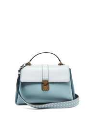 Bottega Veneta Piazza Medium Leather Bag Blue Multi