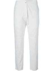 Mm6 By Maison Martin Margiela Cropped Trousers White