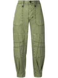 Zadig And Voltaire Pia Military Trousers Green