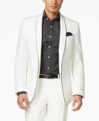 Sean John Men's Cream Linen Jacket Sj Cream