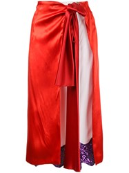 Toga Pulla Wrap Skirt Red