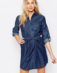 Oasis Denim Shirt Dress Mid Wash