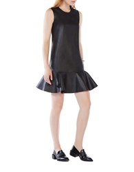 Bcbgmaxazria Sheridan Sleeveless Ruffled Dress Black