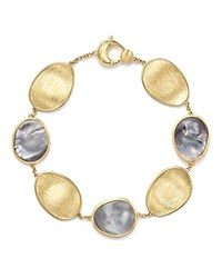 Marco Bicego 18K Yellow Gold Lunaria Bracelet With Black Mother Of Pearl Trunk Show Exclusive White Gold