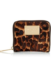 Michael Michael Kors Leopard Print Calf Hair Wallet Animal Print