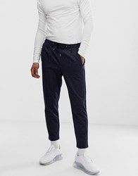 Jack And Jones Pinstripe Trouser With Drawstrings Navy