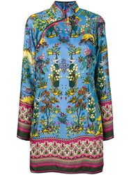 F.R.S For Restless Sleepers Jungle Print Blouse Blue