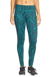 Women's Zella 'Live In' Slim Fit Leggings Teal Everglade Geo Woodsy