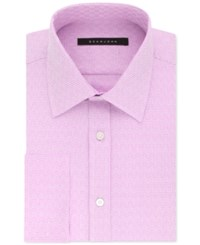 Sean John Men's Classic Regular Fit Textured Solid French Cuff Dress Shirt Bright Rose